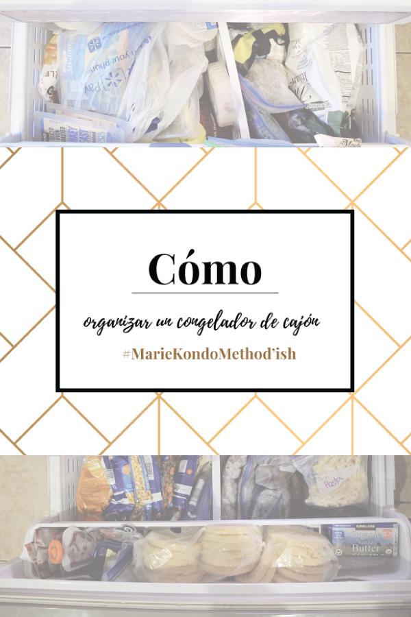 cómo organizar el congelador de cajon con el metodo de Marie Kondo