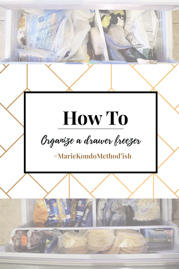 How to organize a freezer drawer with the Marie Kondo method