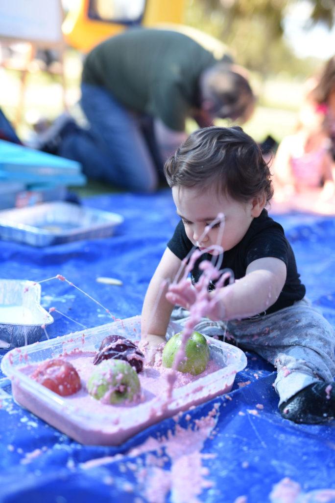 make oobleck for babies sensory play