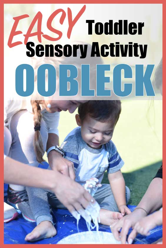 apple themed toddler activity for sensory play using Obleck Recipe #obleck