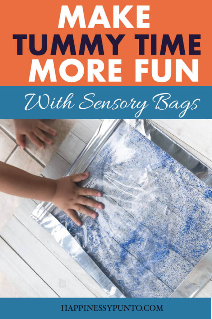Tummy time sensory bags. Tummy time is crucial to your baby's development. Try these easy sensory bags you can do at home with supplies you probably already have.