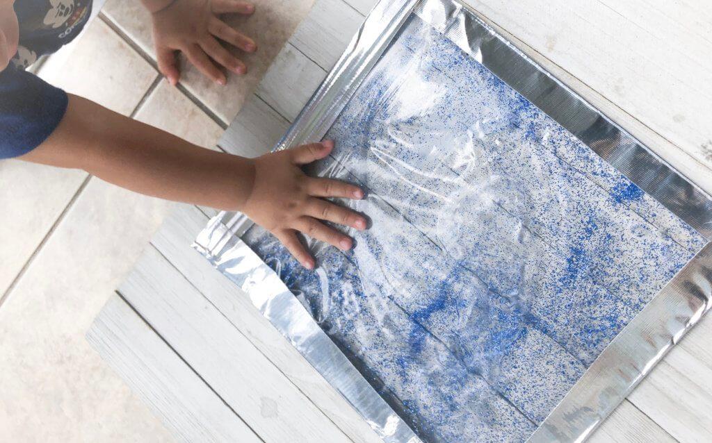 glitter sensory bag for babies