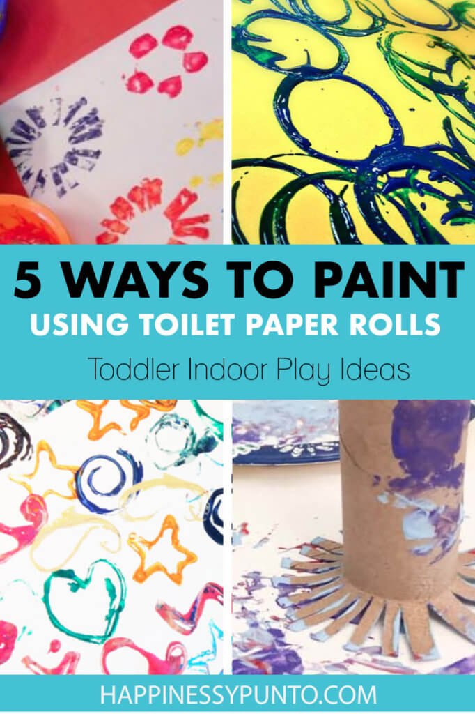 Painting is a great idea when staying indoors. Grab a few empty toilet paper rolls and test these 5 fun ways to make art with them.