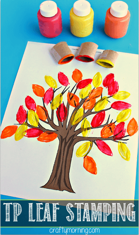 toilet-paper-roll-fall-tree-leaf-craft-for-kids
