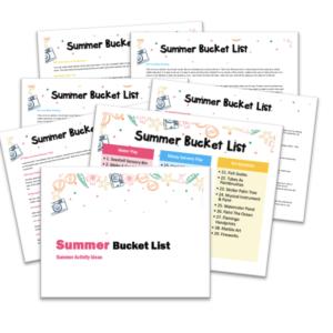 summer activity ideas bucket list toddlers