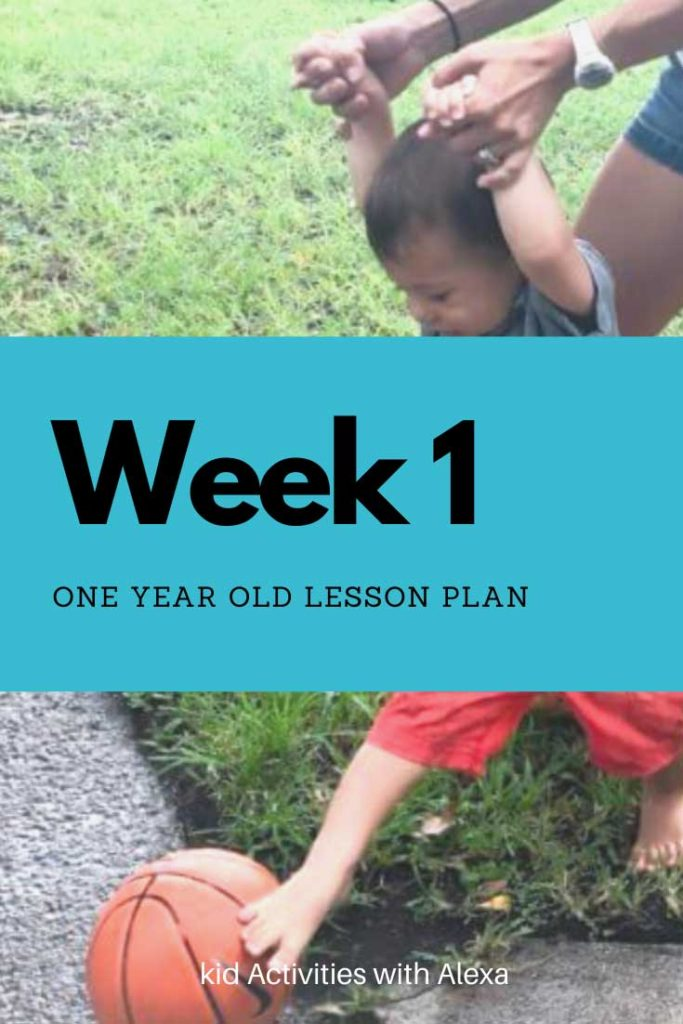 one year old lesson plan
