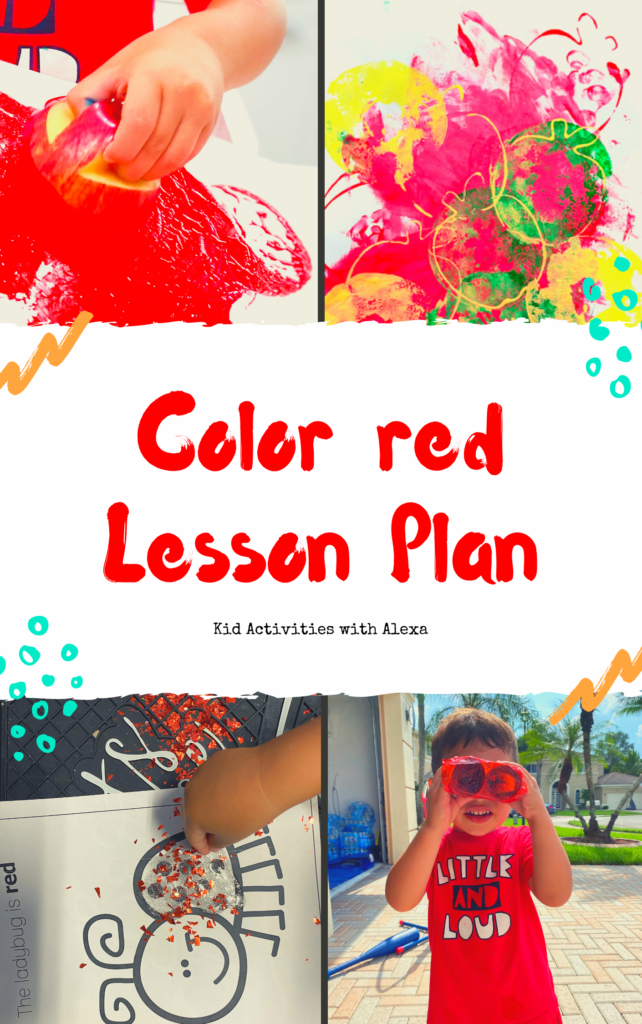 Color red lesson plan
