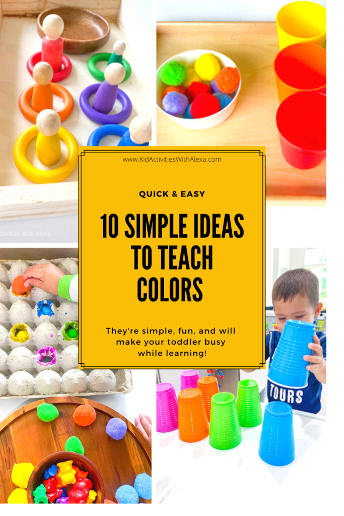 Quick Easy Color Sorting Activities For Toddlers To Learn Colors Kid Activities With Alexa