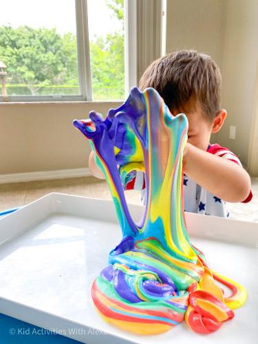 Rainbow puffy Slime