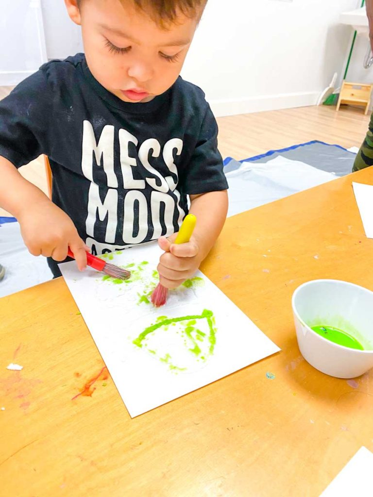 toddlers learn through Art