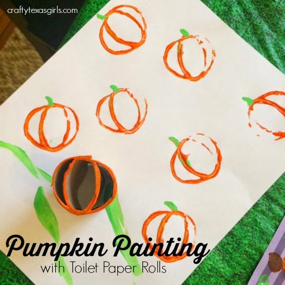 Crafty Texas Girls: Pumpkin Painting with Toilet Paper Rolls