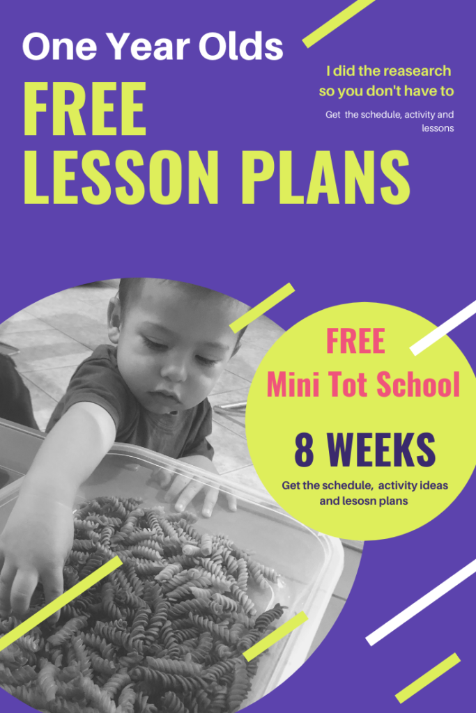 Free One Year Old Lesson Plans